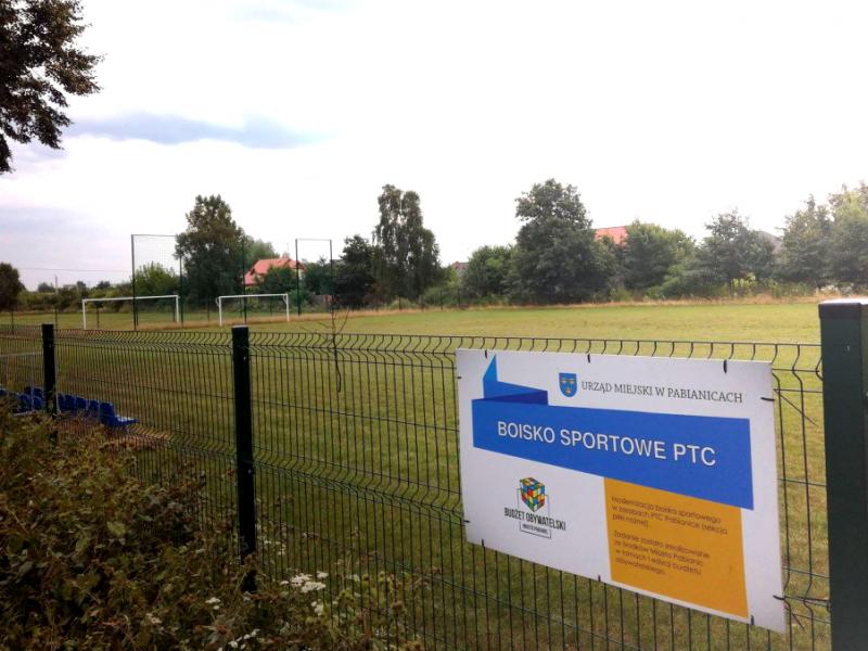 Modernizacja boiska sportowego w zasobach PTC Pabianice